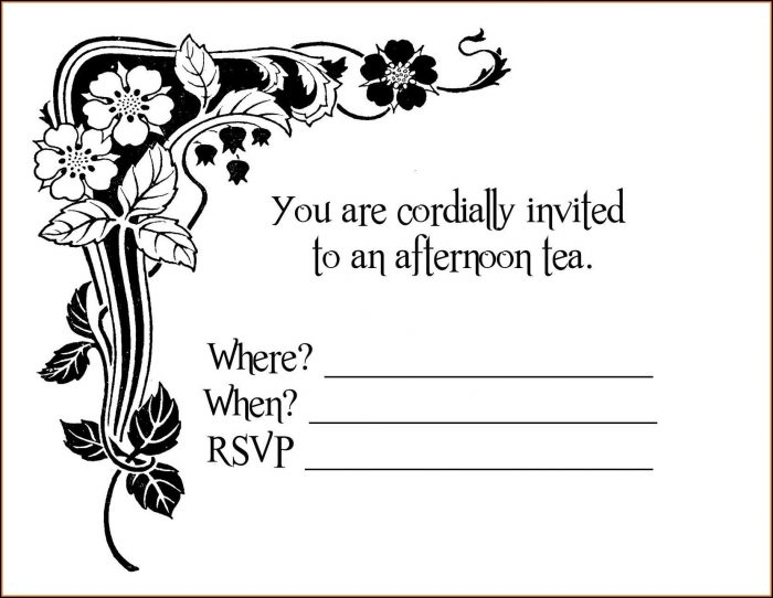 Tea Party Invitation Maker