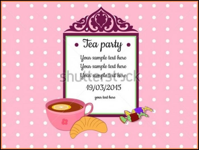 Tea Party Invitation Templates