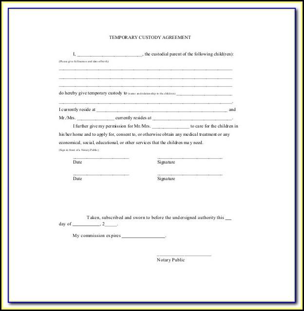 Temporary Child Custody Forms Maryland
