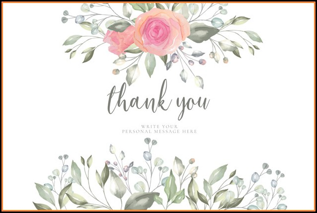 Thank You Card Template Free
