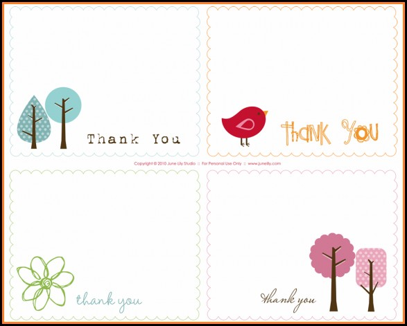 Thank You Card Template Printable