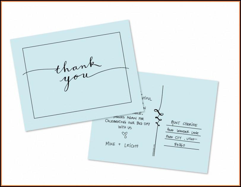 Thank You Postcard Template Free