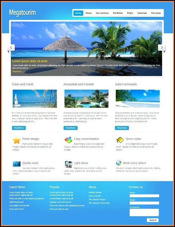 Tourism Website Templates Free Download Html