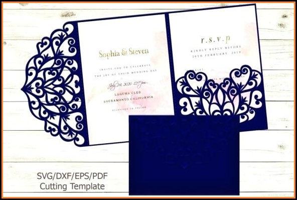 Tri Fold Wedding Invitation Samples