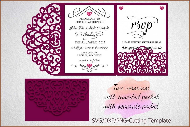 Tri Fold Wedding Invitations Template Free