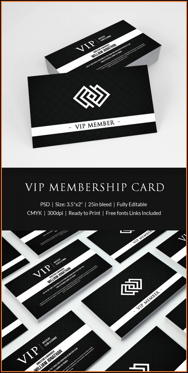 Vip Card Template Word