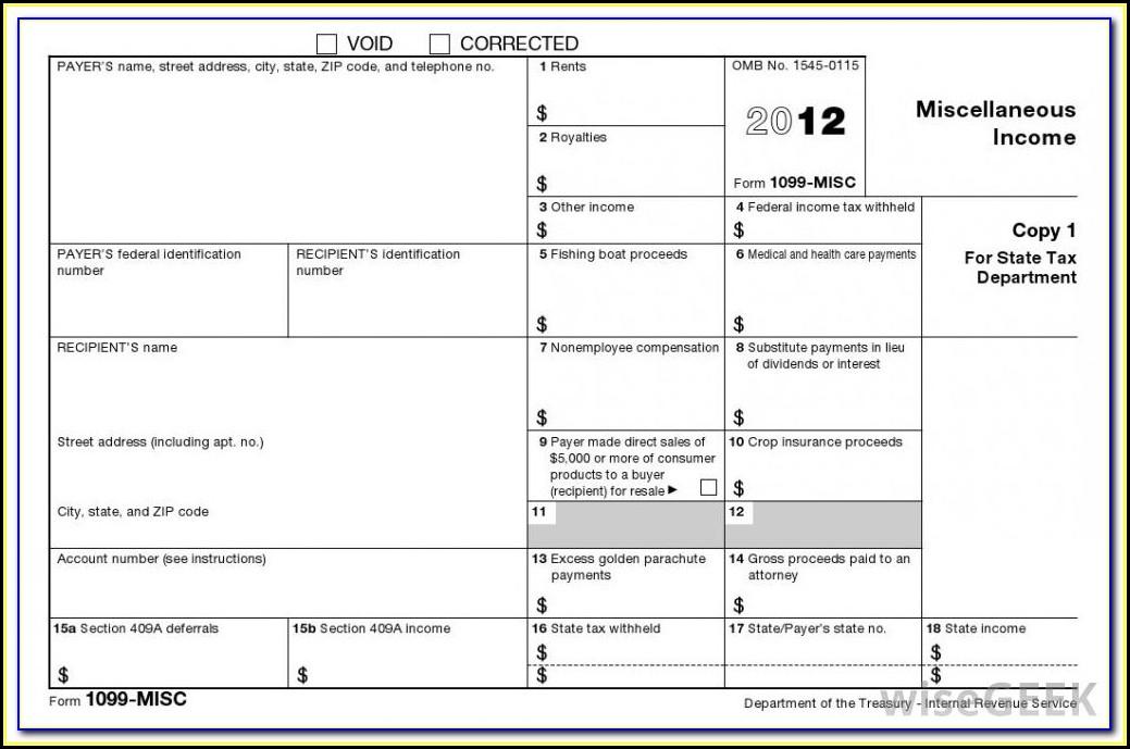 W2 1099 Form Definition