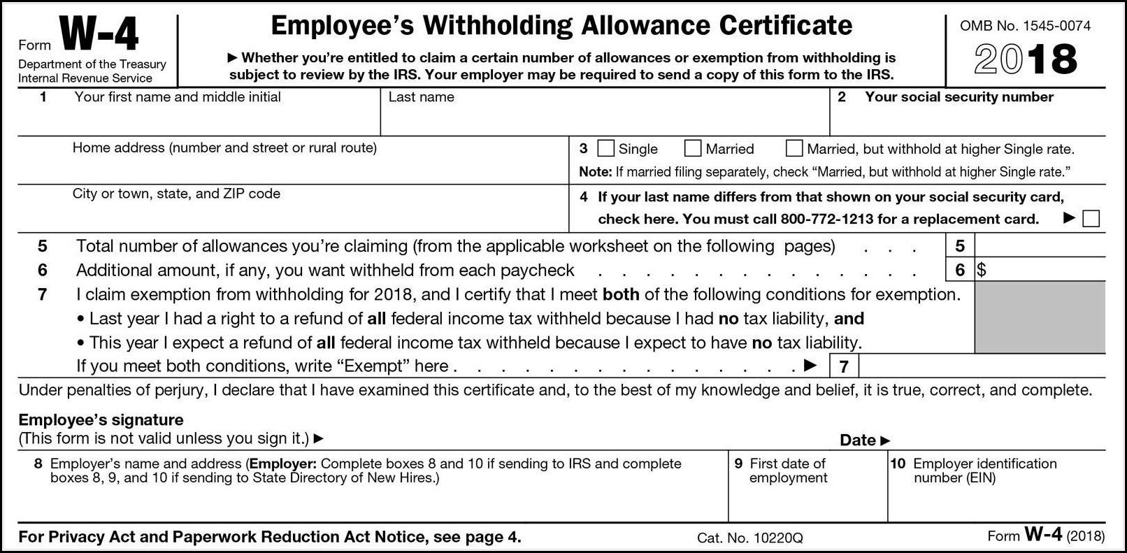 W2 Tax Forms 2018