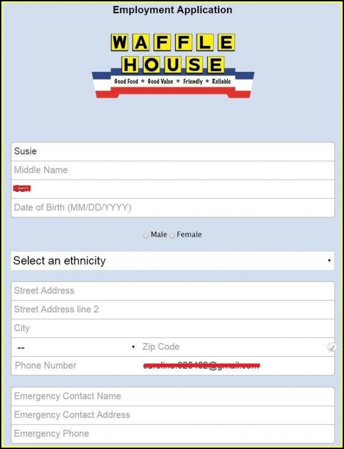 Waffle House W2 Forms Online