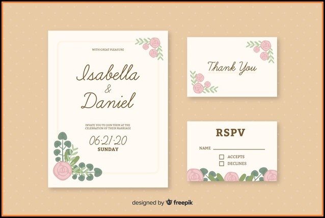 Wedding Card Invitations Template