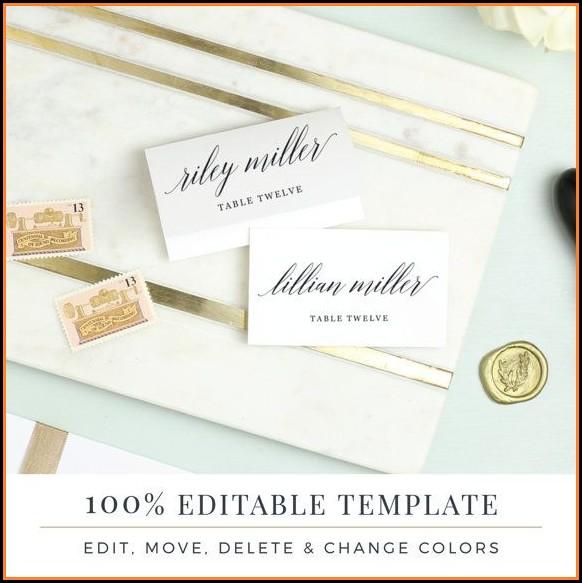 Wedding Escort Card Template Word