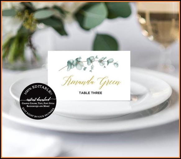 Wedding Escort Cards Template