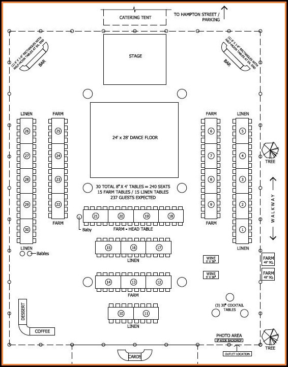 Wedding Floor Plan Layout
