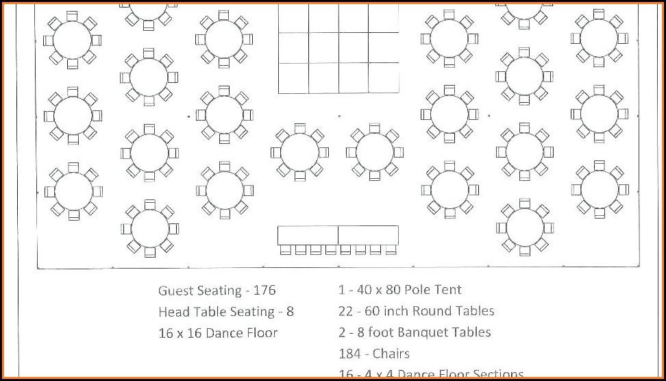 Wedding Table Floor Plan Template