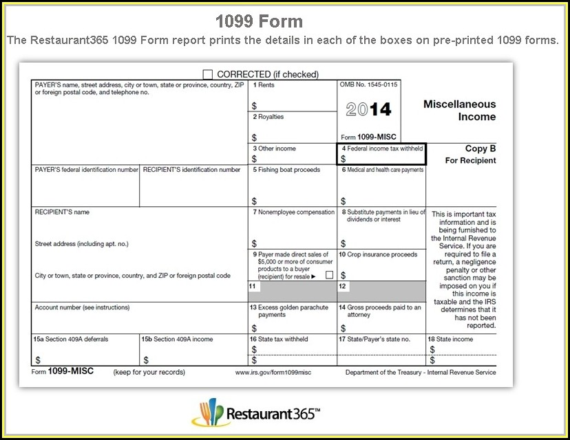 Where To Get 1099 Misc Forms Free
