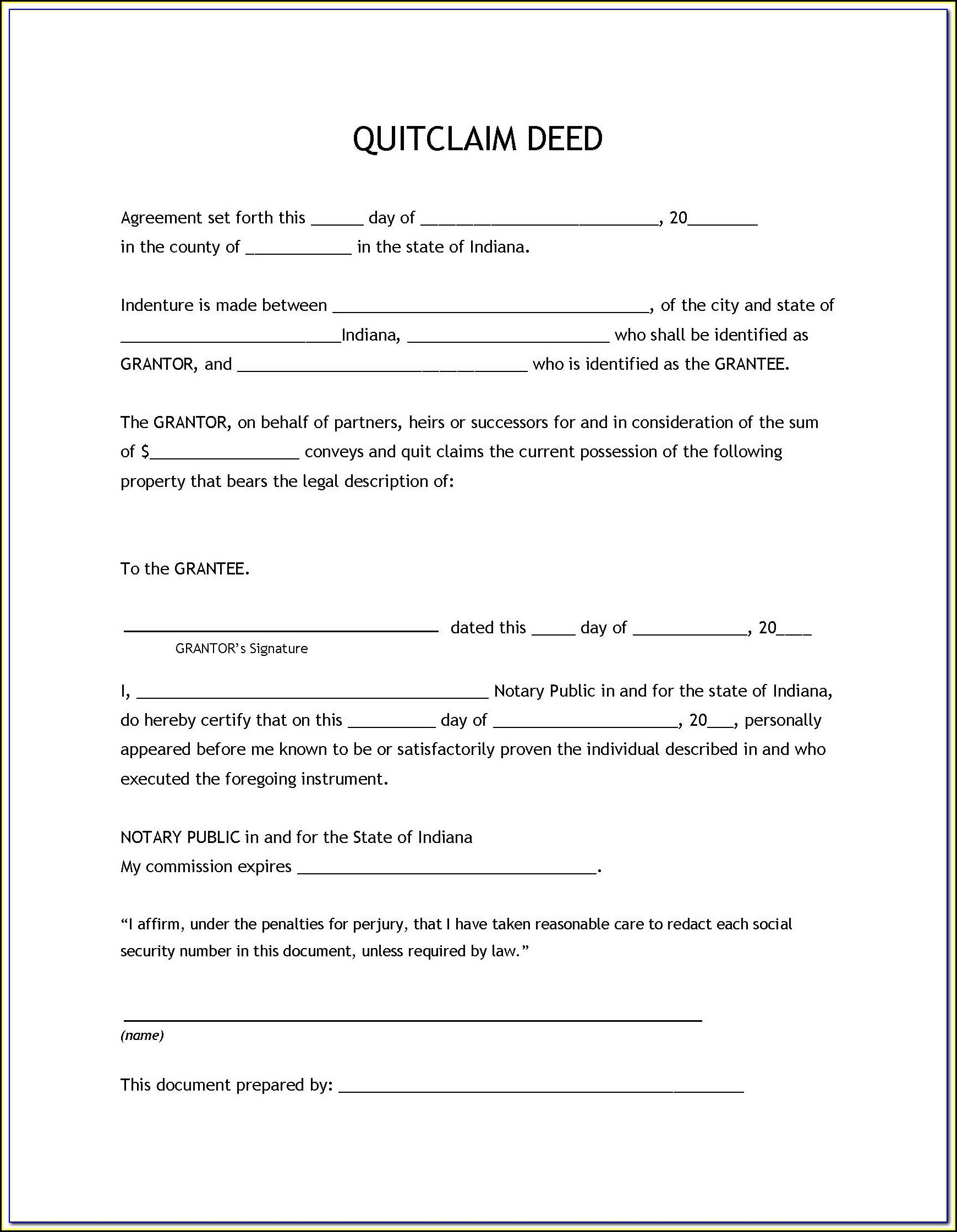 Where To Get A Quick Claim Deed Form