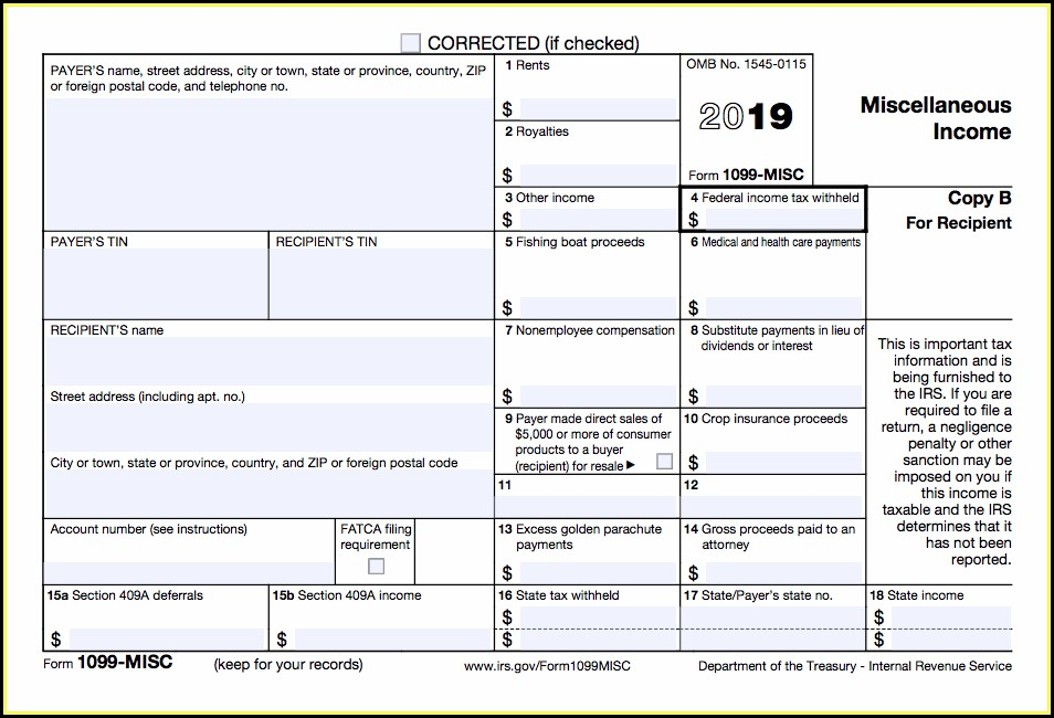 Where To Get Official 1099 Misc Forms