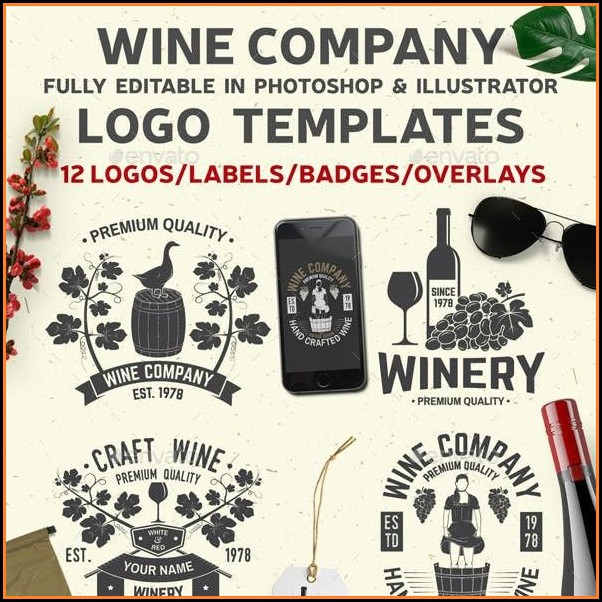 Wine Sticker Templates