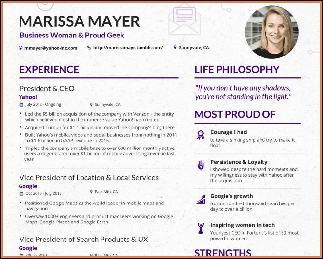 Yahoo Resume Template