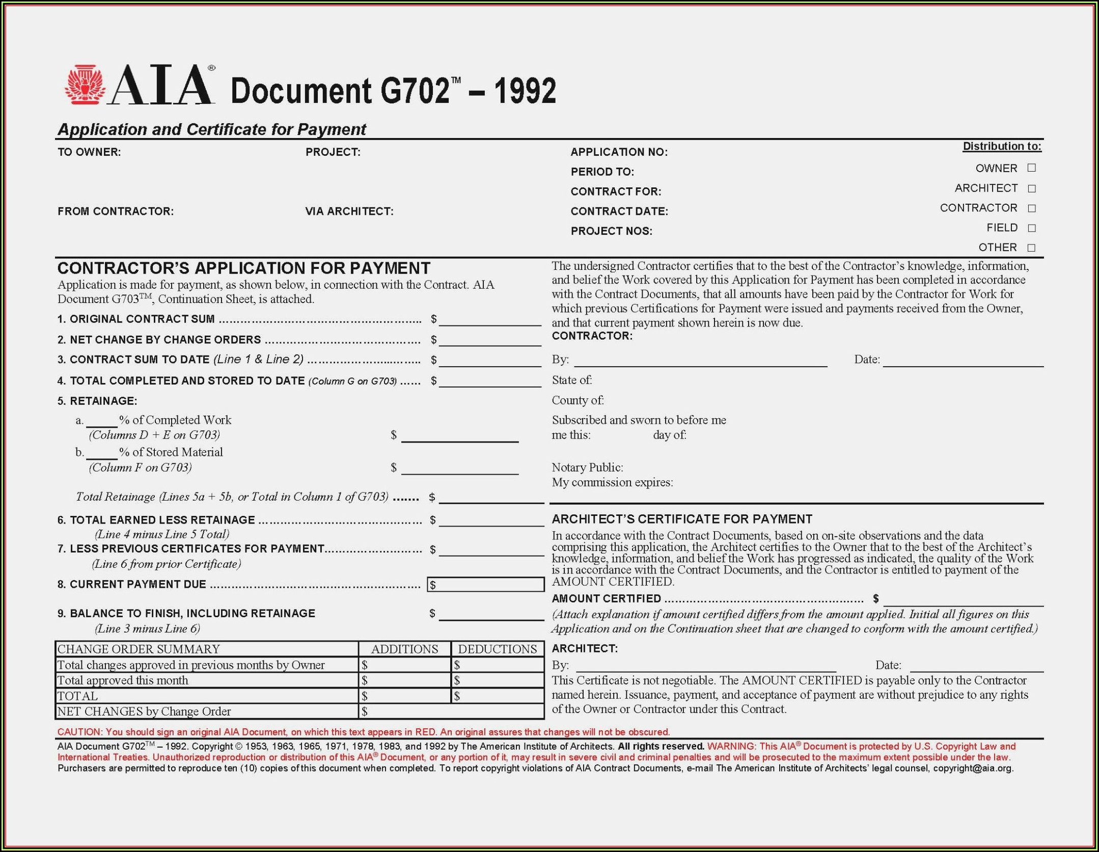 Aia G706a Form Free