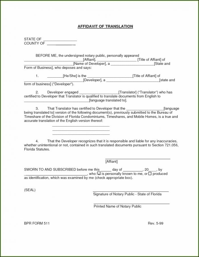 Birth Certificate Translation Template Pdf