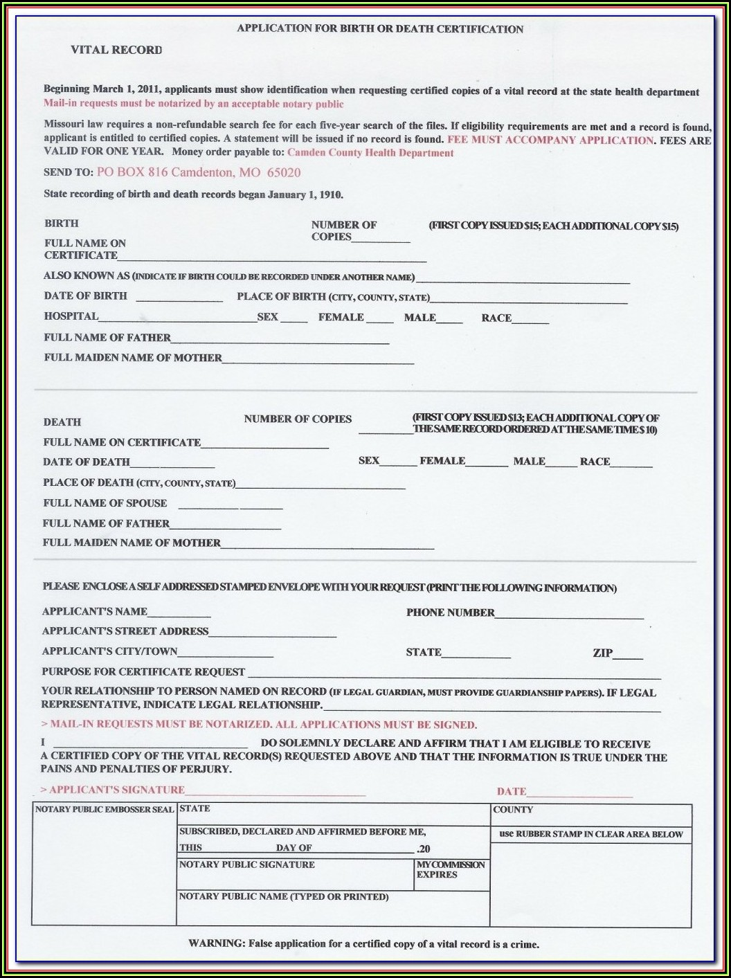 Blank Birth Certificate Form Philippines