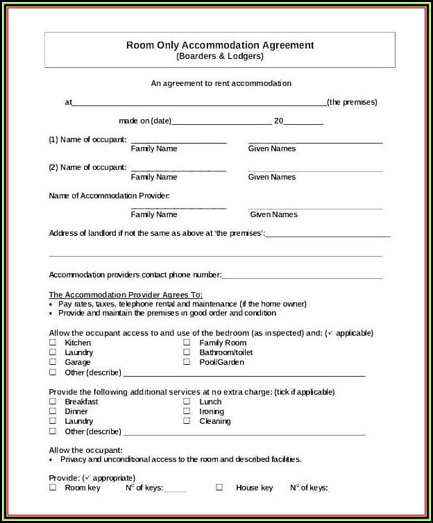 Blank California Rental Agreement Form