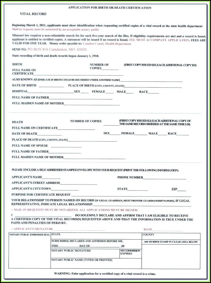 Blank Printable Birth Certificate Form Philippines