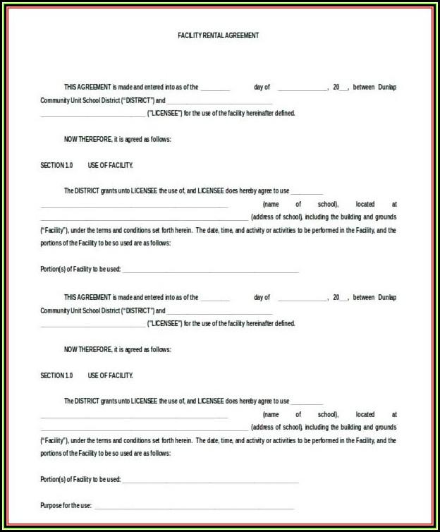 Blank Rental Agreement Form Florida