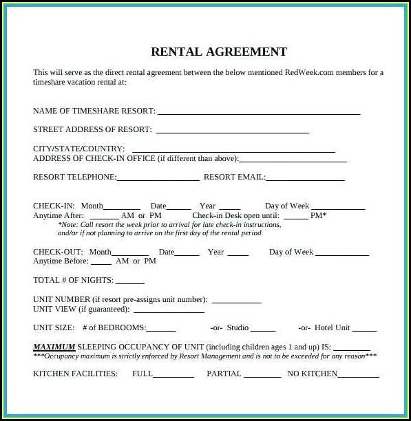 Blank Rental Agreement Form
