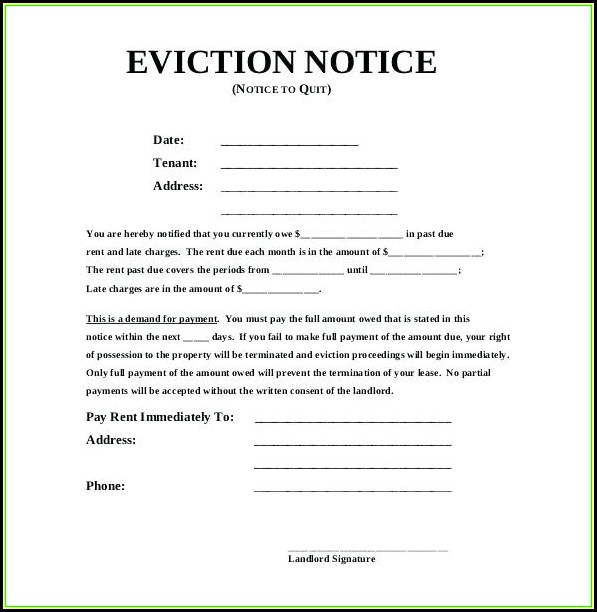 California 3 Day Eviction Notice Form Free Download
