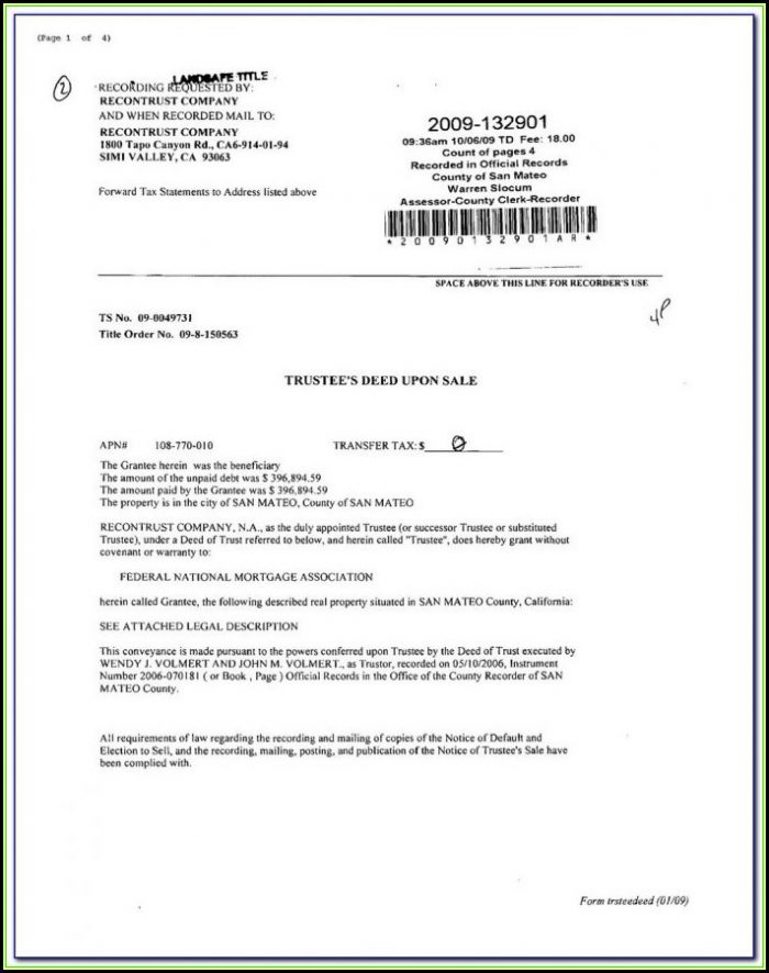 California Assignment Of Deed Of Trust Form