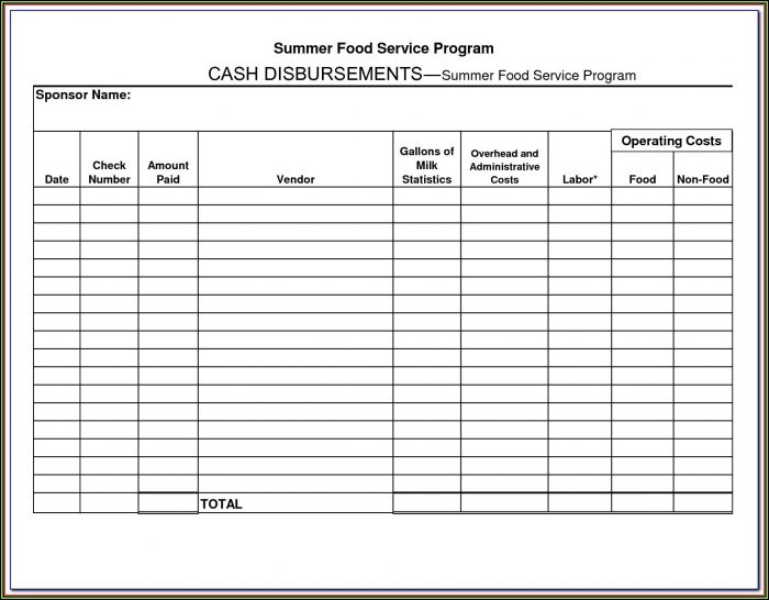 Cash Disbursement Journal Forms