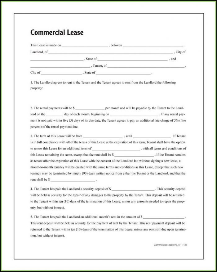 Commercial Lease Forms