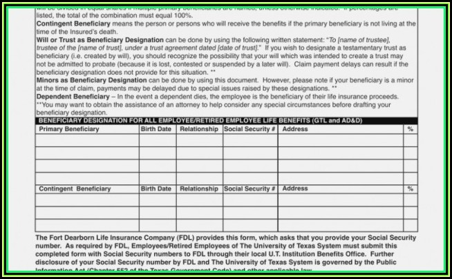 Dearborn National Life Insurance Claim Form