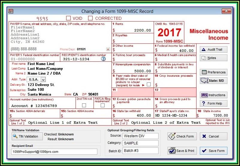 Efile 1099 Forms Quickbooks