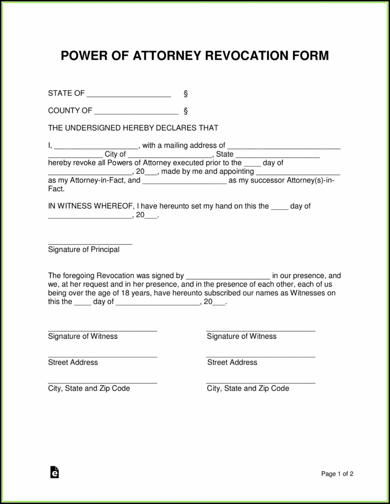 Example Of Durable Power Of Attorney Form