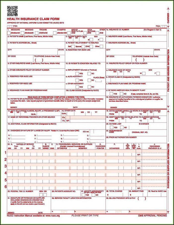 Free 1500 Claim Form