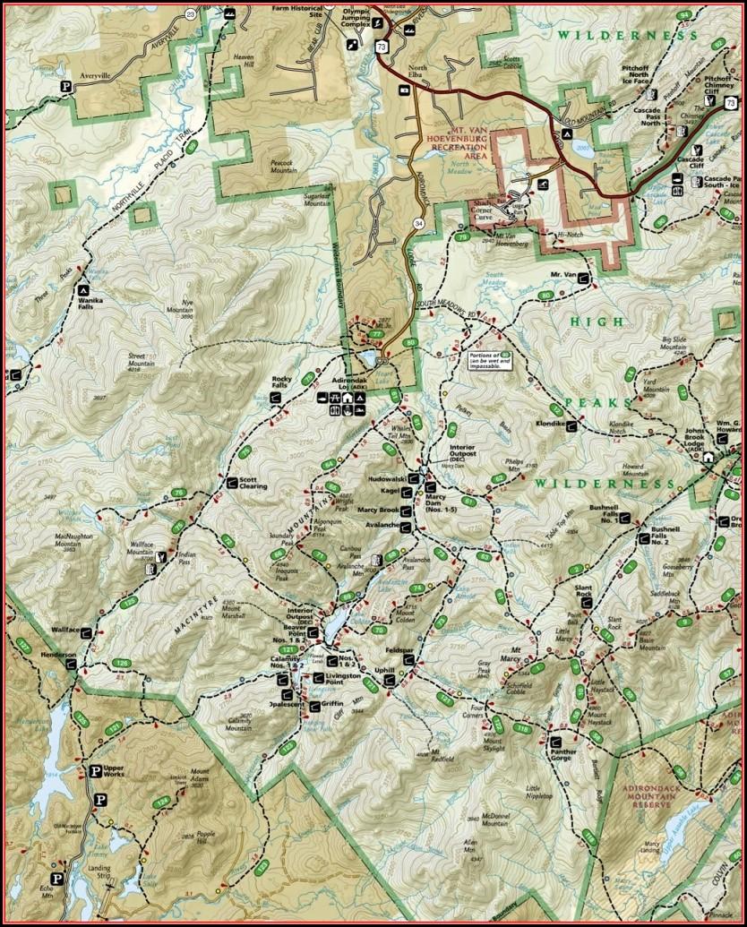 Adirondack 46 High Peaks Trail Maps