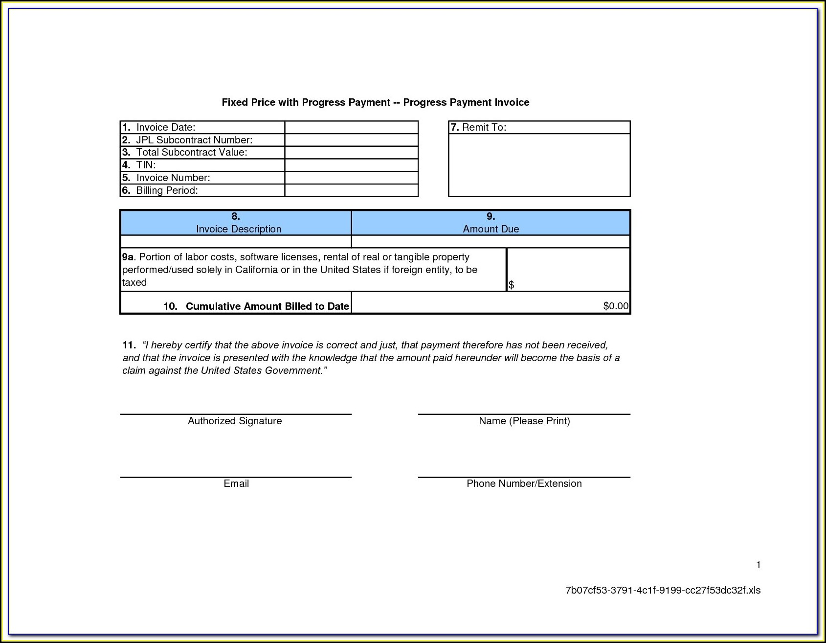 Aia Billing Template Excel