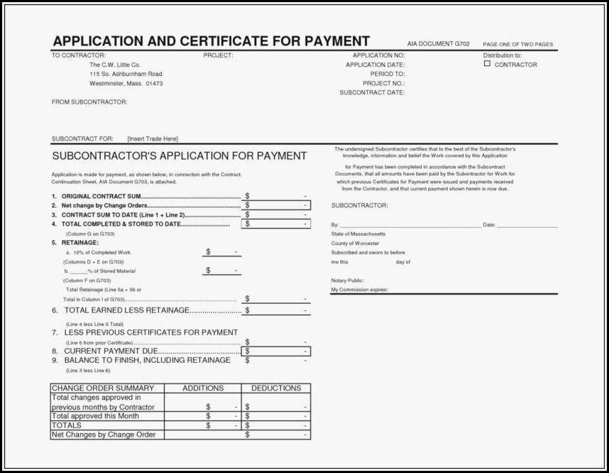 Aia Billing Template