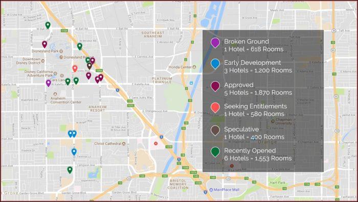 Anaheim Convention Center Hotels Map