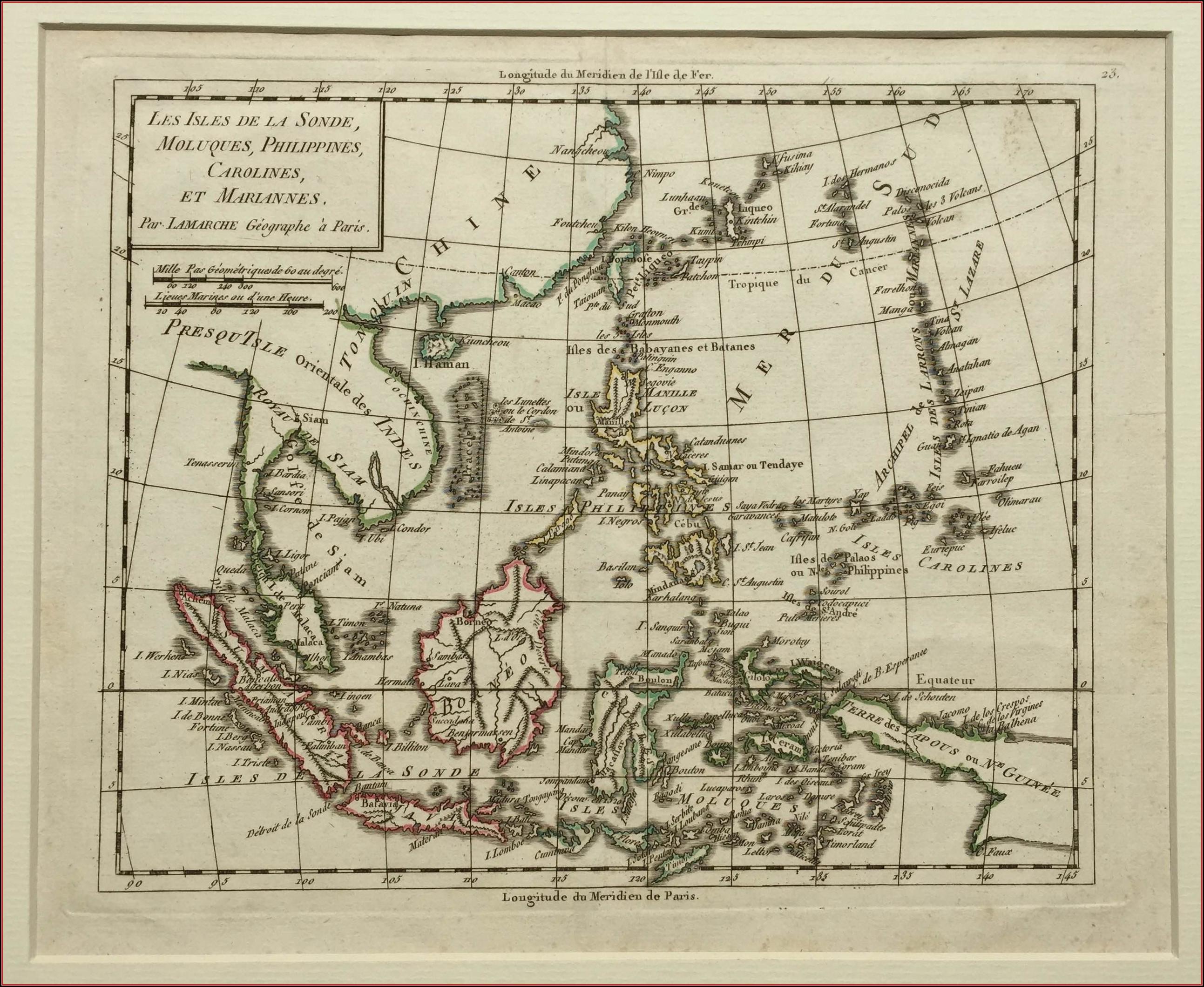 Antique Map Indonesia