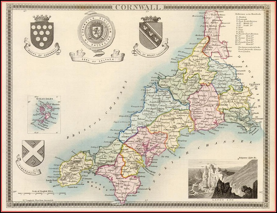 Antique Maps Uk Counties