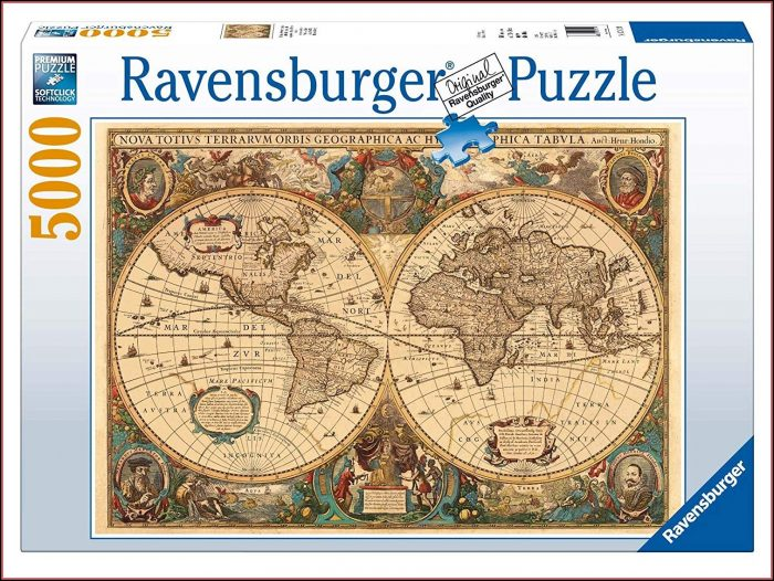 Antique World Map Jigsaw Puzzle