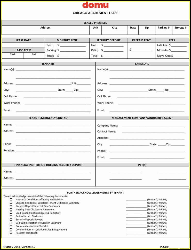Apartment Lease Templates