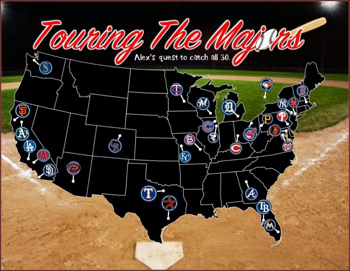Baseball Stadium Travel Map