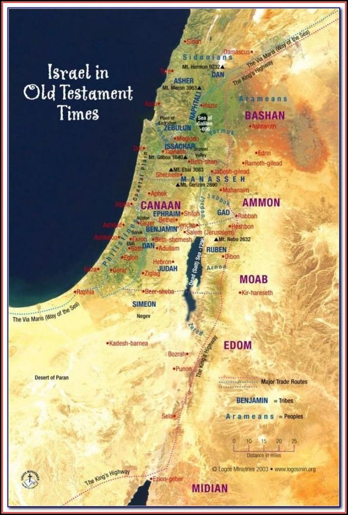 Bible Map Jerusalem Gaza
