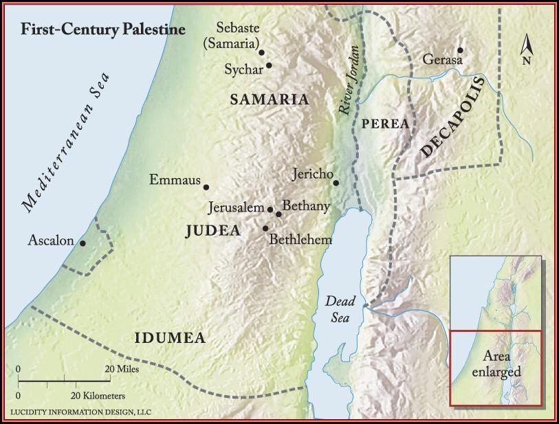 Bible Map Jerusalem To Emmaus