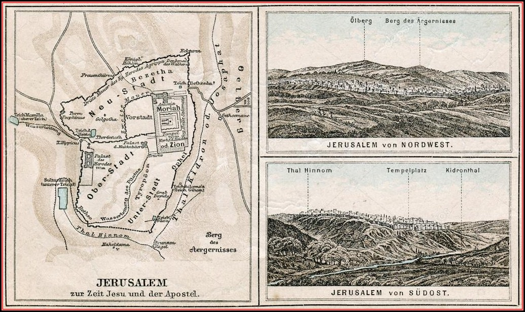 Bible Map Of Jerusalem